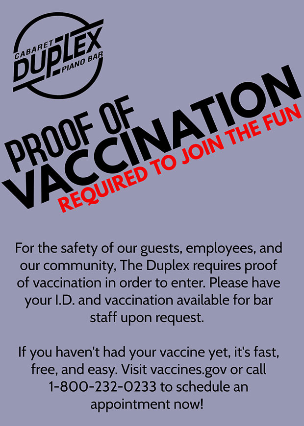 Proof of Vaccination Required