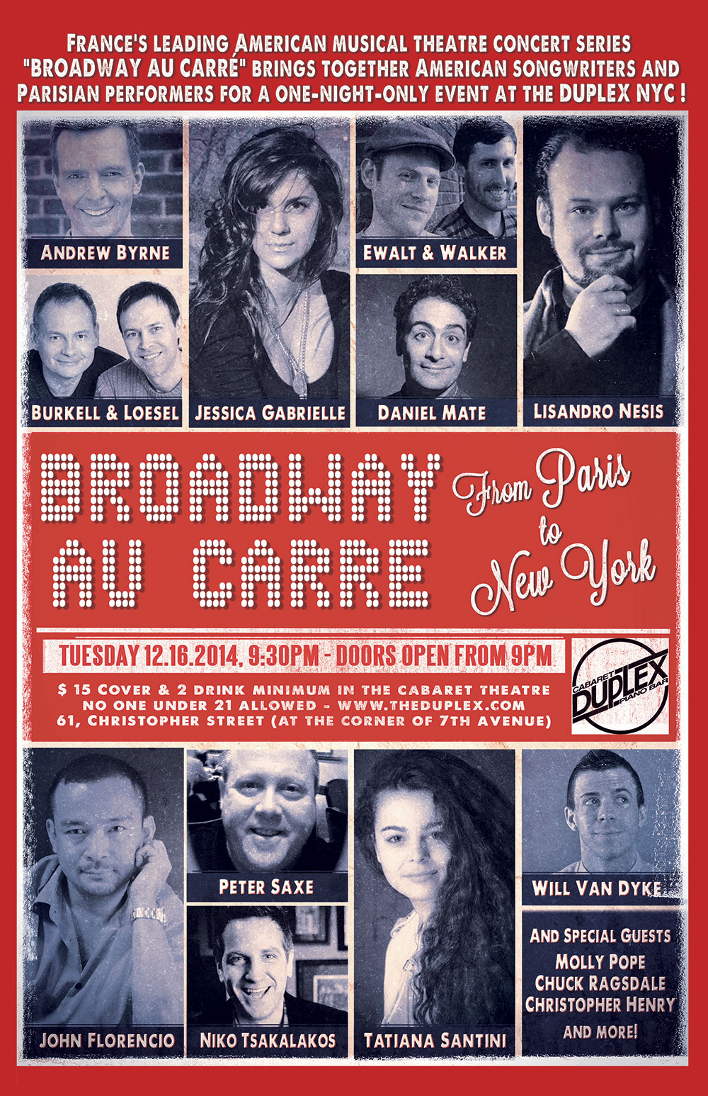 Broadway au Carré - From Paris to New York