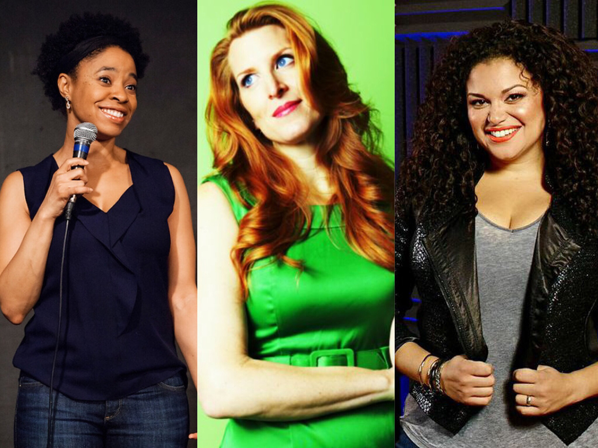 Michelle Buteau, Marina Franklin, and Veronica Mosey