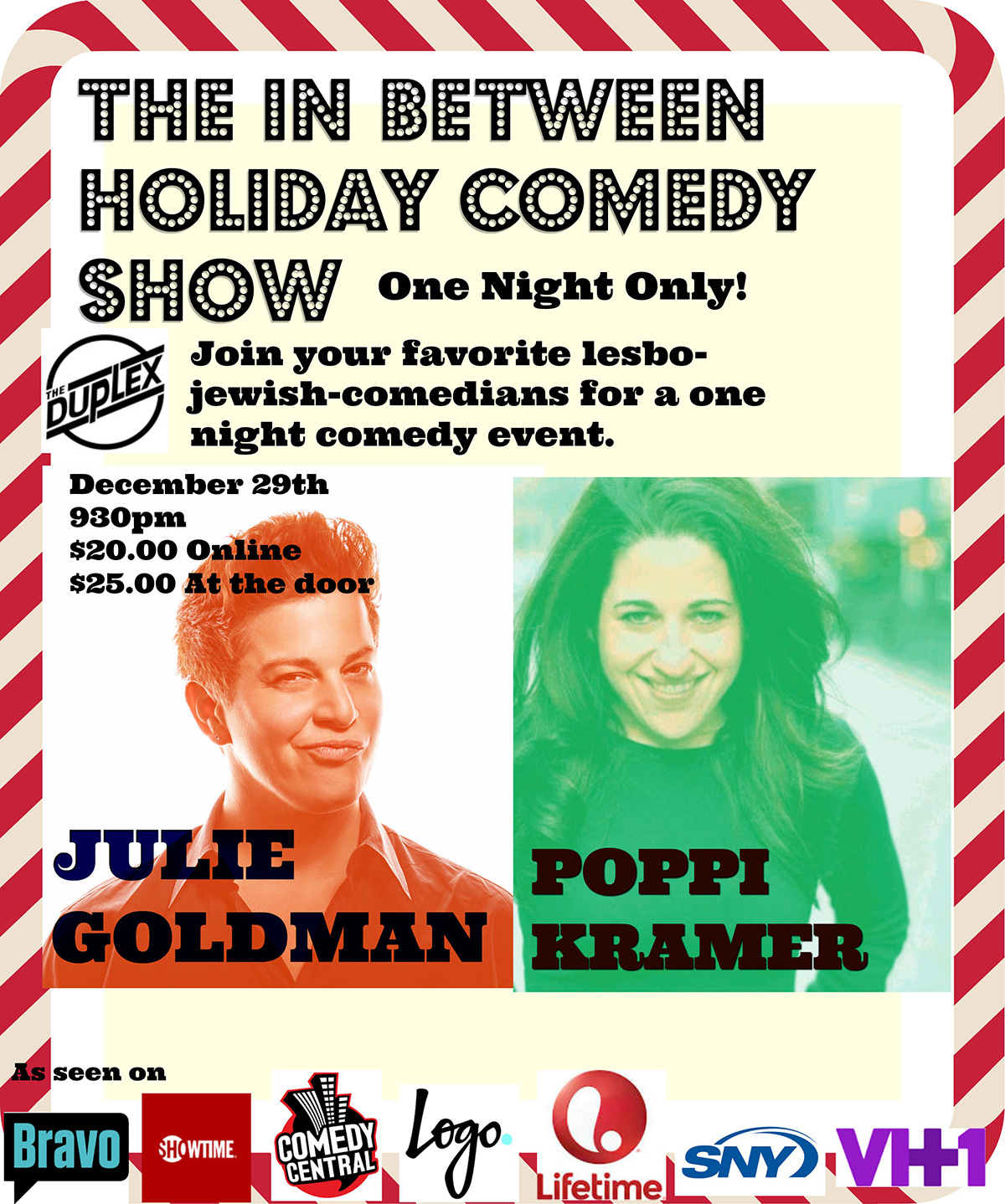 Holiday Comedy Show with Julie Goldman & Poppi Kramer